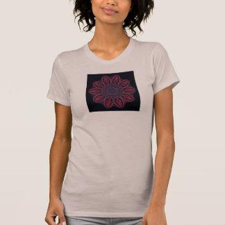 La camiseta de las mujeres del fractal (primavera  playera