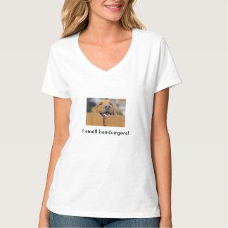 La camiseta de las mujeres del golden retriever,
