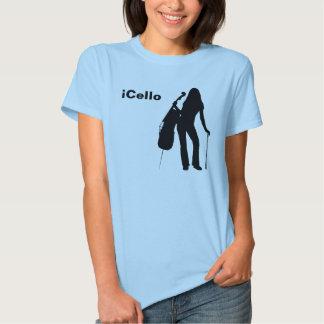 la camiseta de las mujeres del iCello Playeras