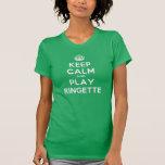 La camiseta de las mujeres del juego tranquilo de