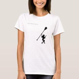 La camiseta de las mujeres del mono de la resaca