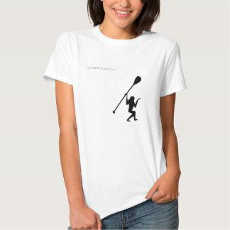 La camiseta de las mujeres del mono de la resaca playera