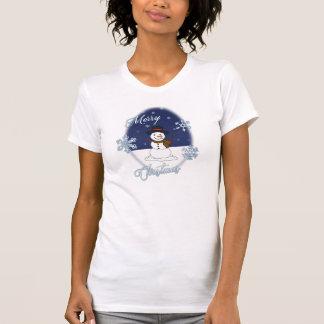 La camiseta de las mujeres del muñeco de nieve de camisas