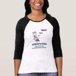 La camiseta de las mujeres del No-Móvil-Teléfono