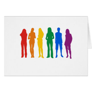 La camiseta de las mujeres del orgullo gay tarjeta