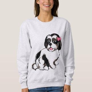 La camiseta de las mujeres del perrito de Shih Tzu Playera