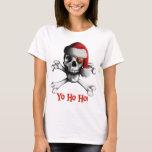 La camiseta de las mujeres del pirata del navidad
