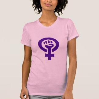 La camiseta de las mujeres del poder de la mujer playeras
