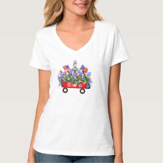 """La camiseta de las mujeres """"del ramo americano del playera"""