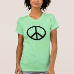 La camiseta de las mujeres del símbolo de paz