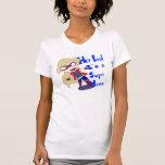 La camiseta de las mujeres del super héroe