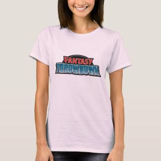 La camiseta de las mujeres del Throwdown de la