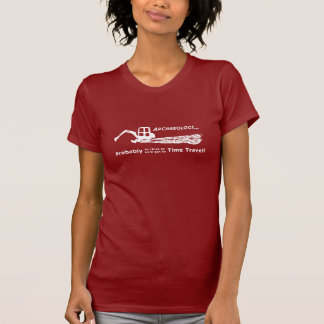 La camiseta de las mujeres del viaje del tiempo