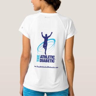La camiseta de las mujeres diabéticas atléticas de