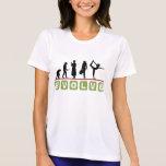 La camiseta de las mujeres divertidas de la yoga poleras