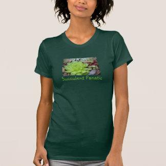 La camiseta de las mujeres fanáticas suculentas