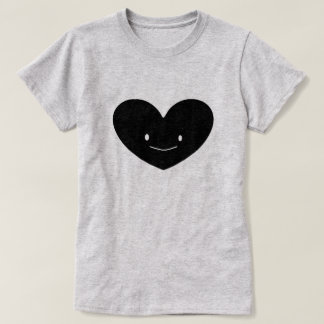 La camiseta de las mujeres felices del corazón remeras