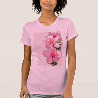 La camiseta de las mujeres florales del hibisco