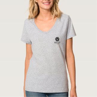 La camiseta de las mujeres - logotipo negro playeras