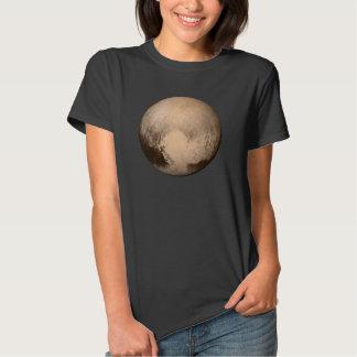 La camiseta de las mujeres negras de Plutón Playeras