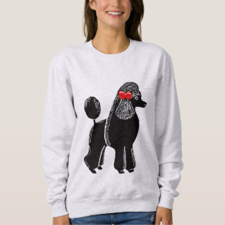 La camiseta de las mujeres negras del caniche remeras