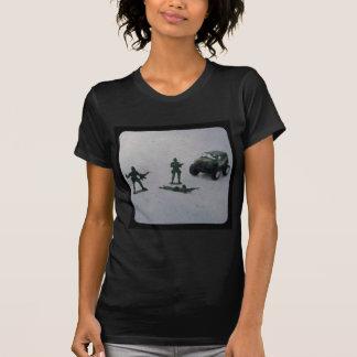 La camiseta de las mujeres negras del soldado de playera