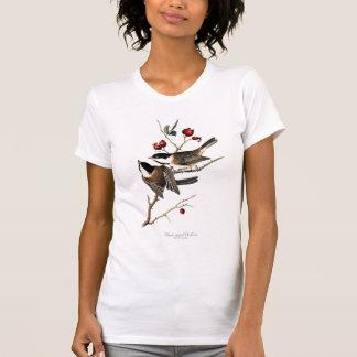 La camiseta de las mujeres Negro-capsuladas del