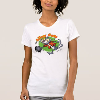 La camiseta de las mujeres que ruedan de los gatos