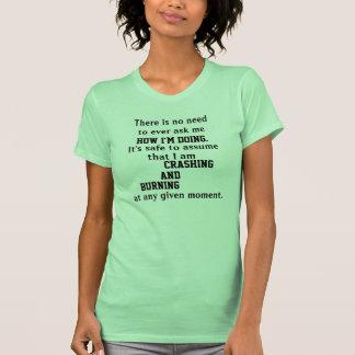La camiseta de las mujeres QUE SE ESTRELLAN Y Polera