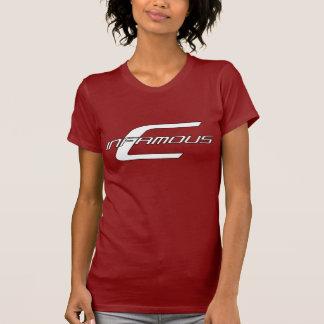 La camiseta de las mujeres rojas Infames-c
