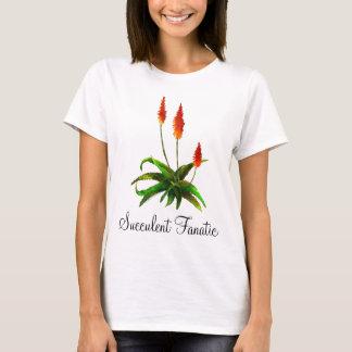 La camiseta de las señoras de la acuarela del áloe