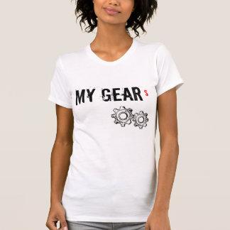 """La camiseta de las señoras, """"MIS ENGRANAJES """" Playera"""