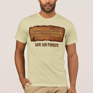 La camiseta de los Árbol-Amantes de la poesía de