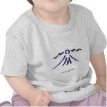 La camiseta de los bebés aventureros púrpuras del
