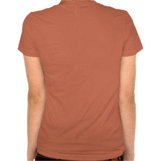 La camiseta de los camareros de la mujer profesion