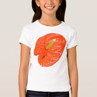La camiseta de los chicas abigarrados del hibisco