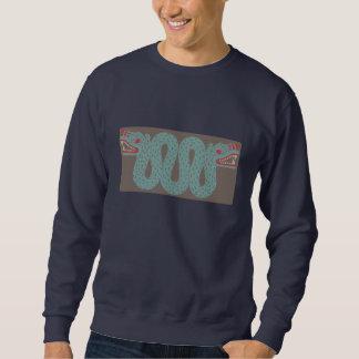 La camiseta de los hombres aztecas de la serpiente suéter