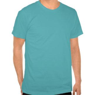 La camiseta de los hombres azules felices dobles d