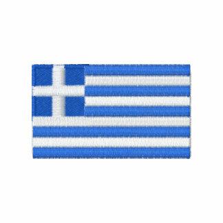 La camiseta de los hombres bordados bandera de Gre