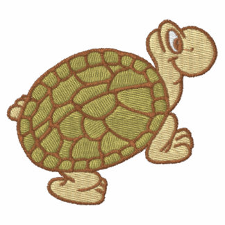 La camiseta de los hombres bordados tortuga