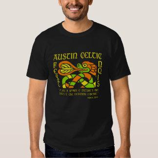 La camiseta de los hombres célticos del festival poleras