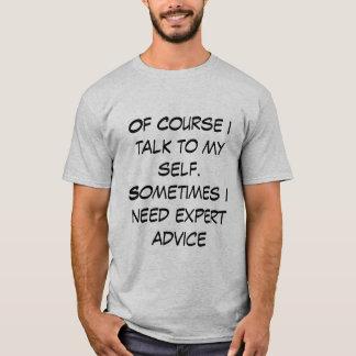 La camiseta de los hombres con cita divertida