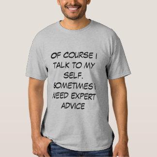 La camiseta de los hombres con cita divertida remera