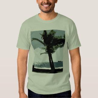 La camiseta de los hombres con clase de la palma playeras
