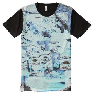 La camiseta de los hombres de congelación