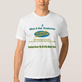 La camiseta de los hombres de la aventura del poleras