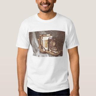La camiseta de los hombres de la cámara de la remera