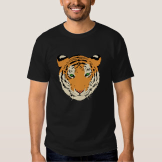 La camiseta de los hombres de la cara del tigre polera