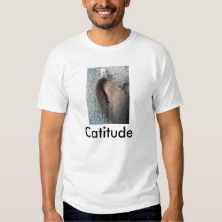 La camiseta de los hombres de la imagen del gato polera