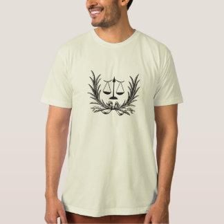 La camiseta de los hombres de la ley de la polera